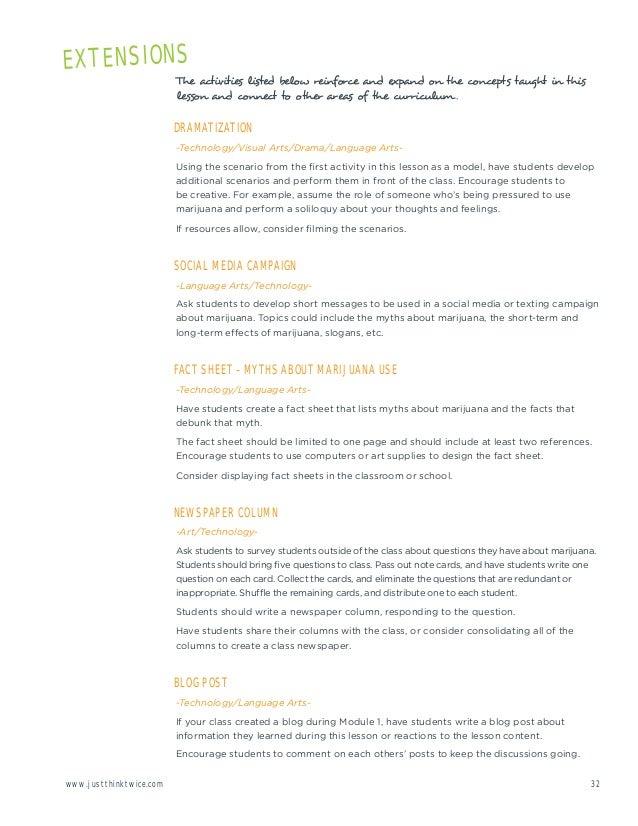 marijuana facts sheet