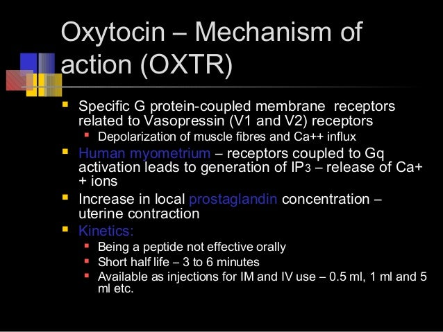 oxytocin effects and uses Find a comprehensive guide to possible side effects including common and rare side effects when taking pitocin (oxytocin injection) for healthcare professionals and consumers.
