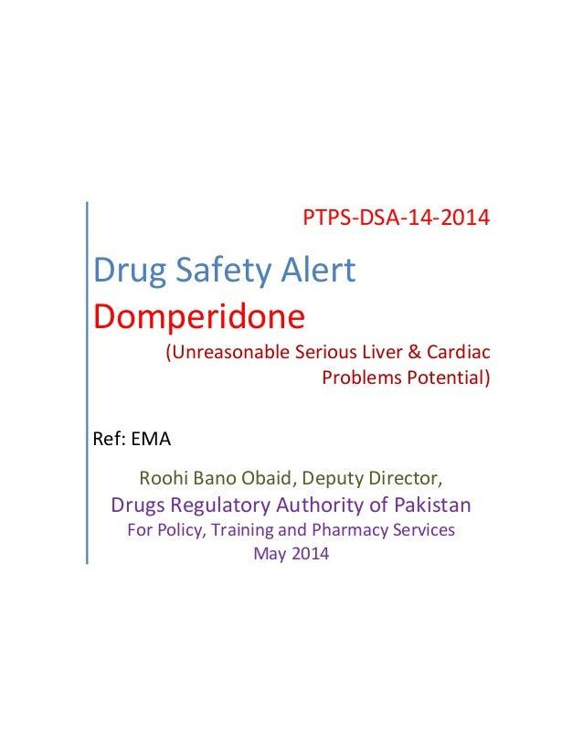 Drug Safety Alert Domperidone