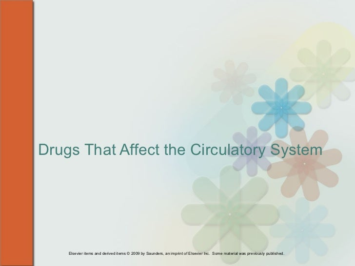 Drugs That Affect the Circulatory System