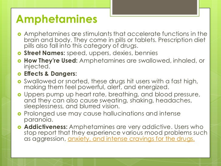 amphetamine diet pills names