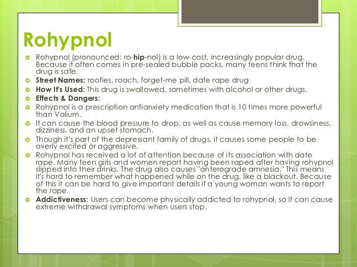 Date rape drug symptoms in Perth