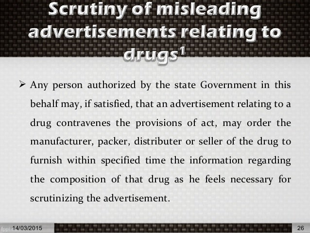 Drugs and magic remedies act (objectionable advertisements