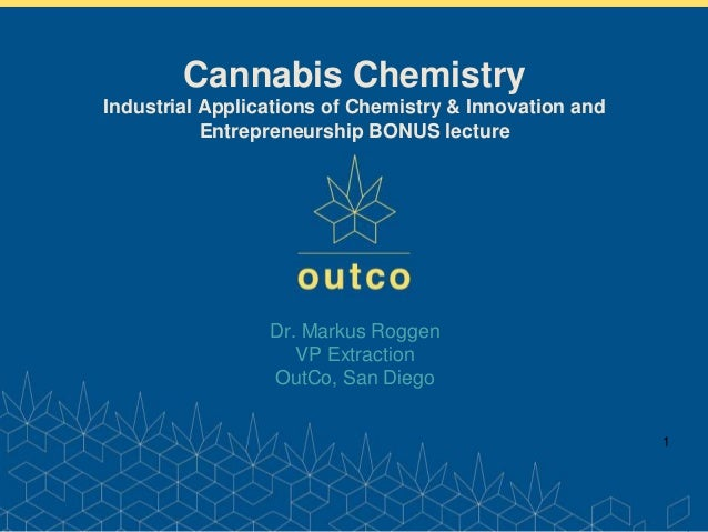 www.outco.com 1 Dr. Markus Roggen VP Extraction OutCo, San Diego Cannabis Chemistry Industrial Applications of Chemistry &...