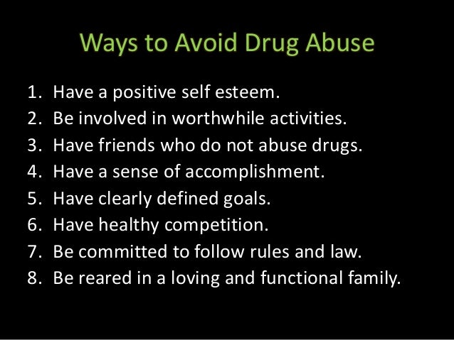 4 ways to prevent drug abuse