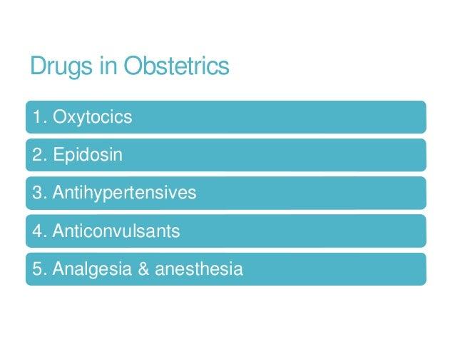 Drugs in obstetrics Slide 2