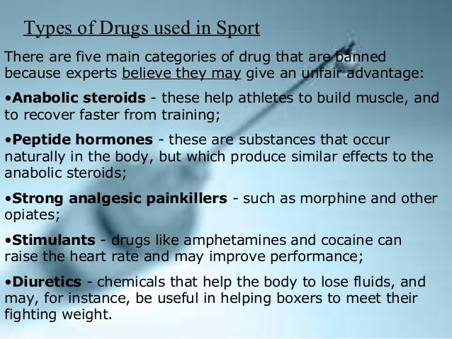 diuretics used in sport Diuretics were first banned in sport (both in competition and out of competition) in 1988 because they can be used by athletes for two primary reasons first, their potent ability to remove water from the body can cause a rapid weight loss that can be required to meet a weight category in sporting events second, they can be.