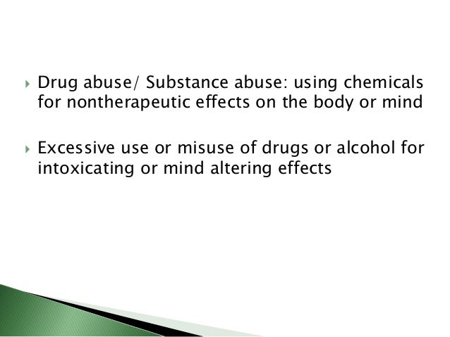 Drugs of abuse - Pharmacology