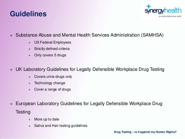 an argument in favor of drug testing at the workplace If you plan to use alcohol and drug testing as a part of a workplace drug testing in the workplace the courts ruled in favor of the employee because.