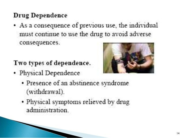 drug tolerance Tolerance is defined as a person's diminished response to a drug that is the result of repeated use 1people can develop tolerance to both illicit drugs and prescription medications.