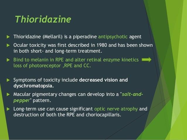 Thioridazine Mellaril Drug Study