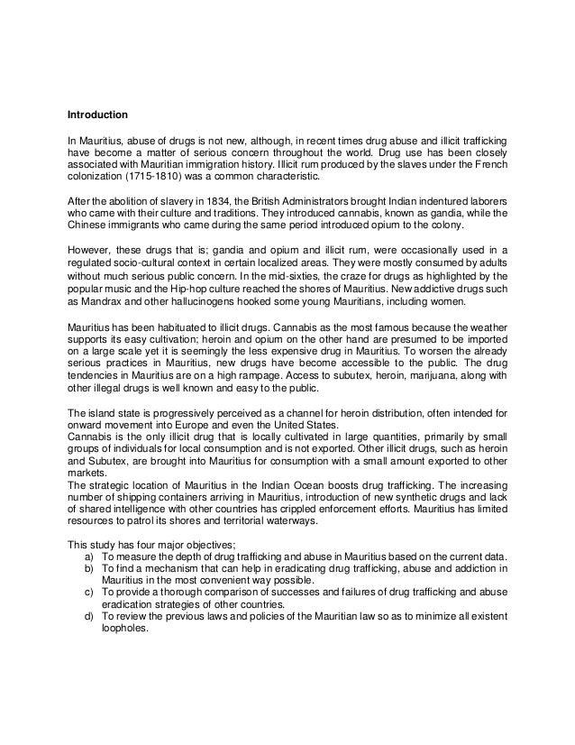 arguement drug trafficking thesis