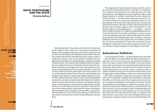 an introduction to the issue of drugs and how they cause crime Thematic debate of the 66th session of the united nations general assembly on drugs and crime as a threat to development on the occasion of the un international day.