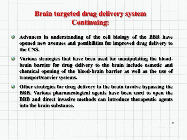 Conclusion Research related to the development of targeted drug delivery system is now a day is highly preferred and facil...