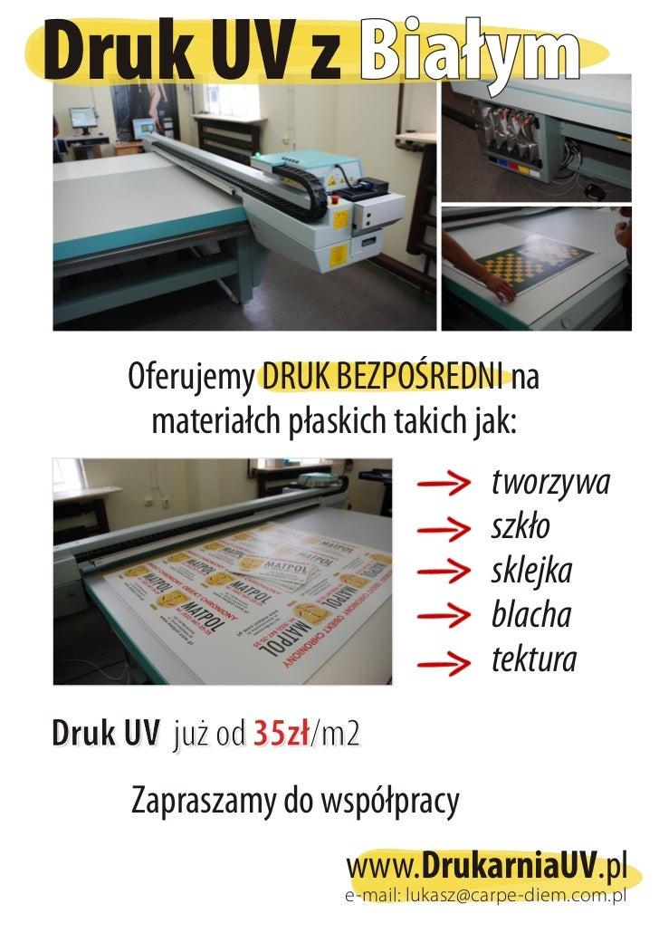Drukowanie UV Warszawa [ ploter uv ] 2012
