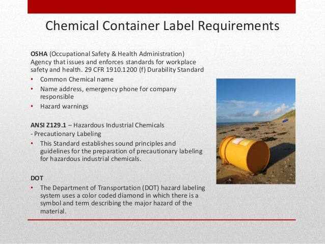 drum labeling osha compliance With chemical container labeling requirements