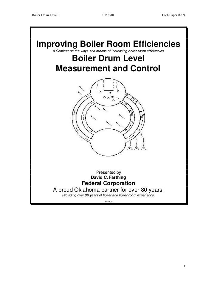 Boiler Drum Level                             01/02/01                              Tech Paper #909   Improving Boiler Roo...