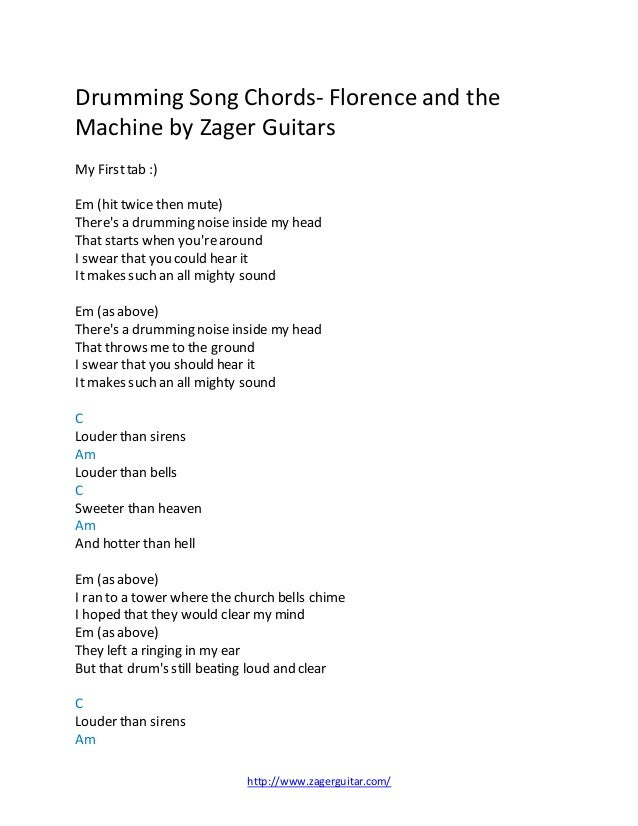 Drumming Song Chords Florence And The Machine By Zager Reviews