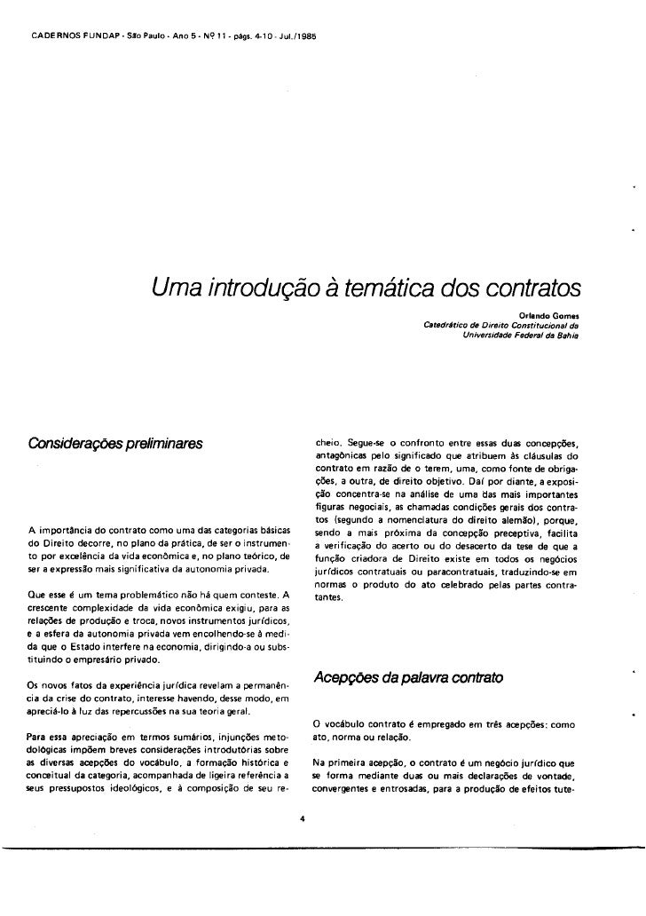 Drummond   Civil   Texto Orlando Gomes   Introducao A Tematica Dos Contratos   100224