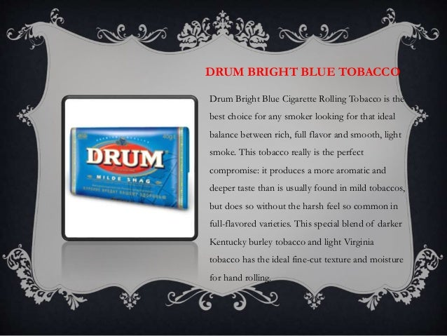 Drum Bright Blue Cigarette Rolling Tobacco 5 Packs