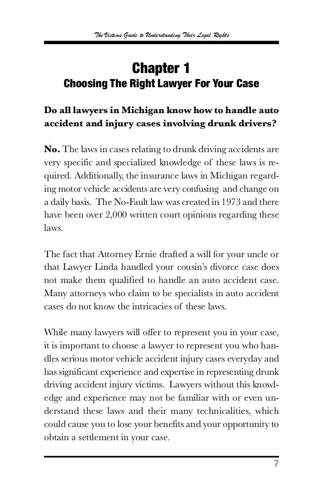 The michigan drunk driving handbook the victims guide to understanding their legal rights7 7 how do solutioingenieria Image collections