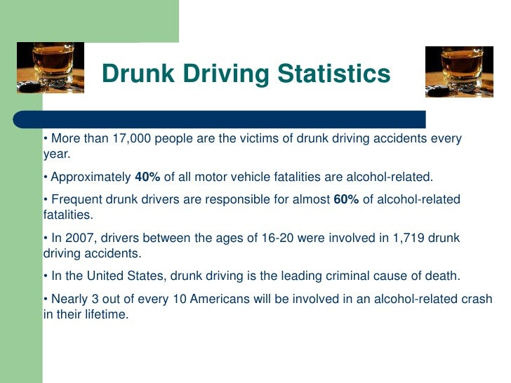 a look at shocking statistics about drunk driving Man in the mirror sends shocking anti-drunken-driving make the same mistake that put him in prison by driving home drunk in a scene from a public.