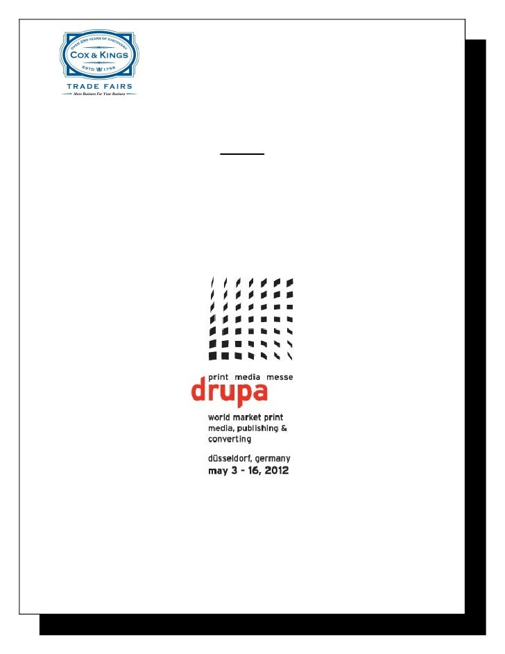Drupa Exhibitor's Package