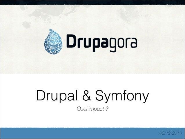Drupal & Symfony Quel impact ?  05/12/2013