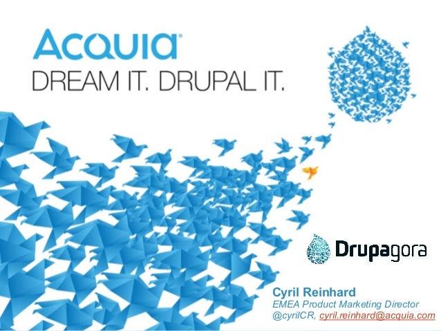 ‹#›  Cyril Reinhard  EMEA Product Marketing Director  @cyrilCR, cyril.reinhard@acquia.com