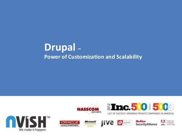 Drupal –Power of Customization and Scalability