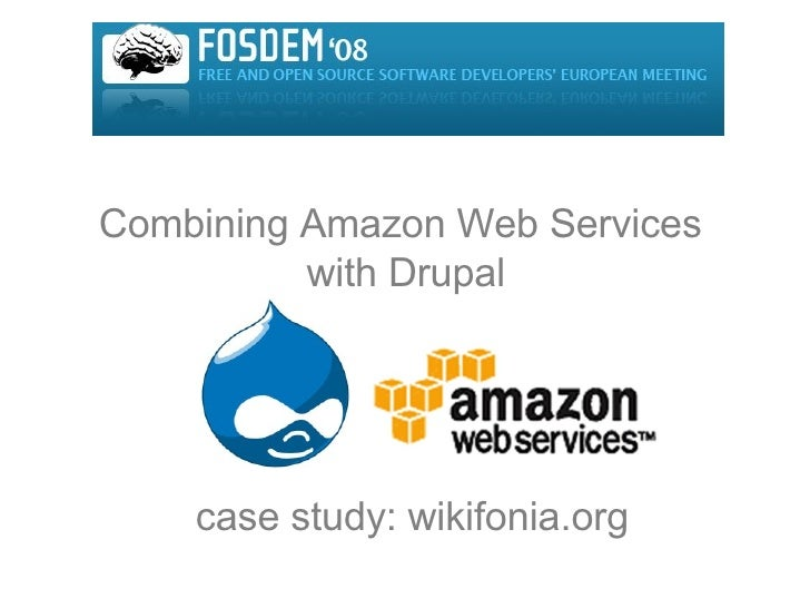 Combining Amazon Web Services  with Drupal case study: wikifonia.org