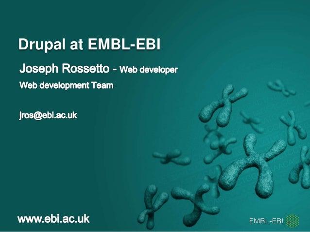 Drupal at EMBL-EBI