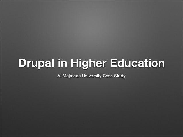 Drupal in Higher Education Al Majmaah University Case Study