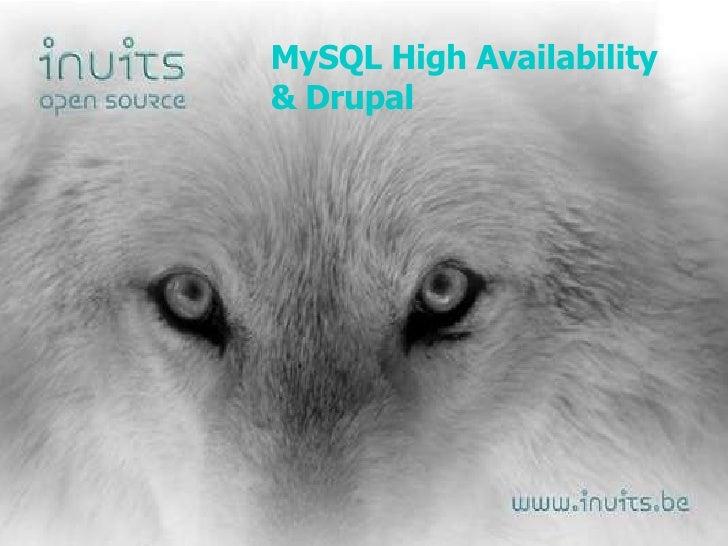 MySQL High Availability & Drupal