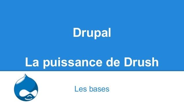 Drupal La puissance de Drush Les bases