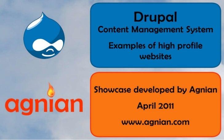 High Profile Websites Powered by Drupal - April 2011