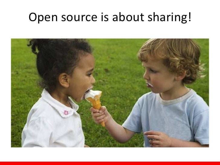 Open source is about sharing!
