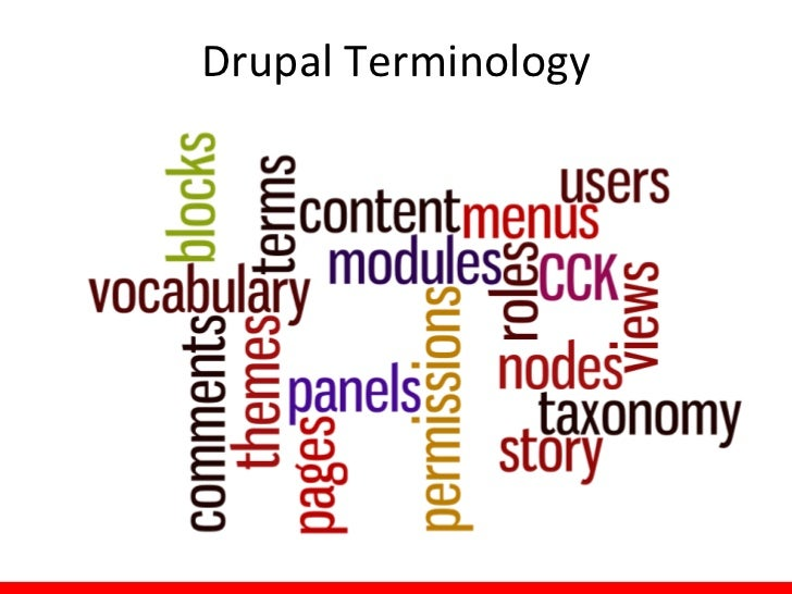 Drupal Terminology
