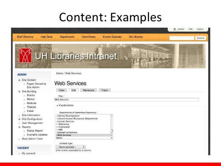 Content: Examples