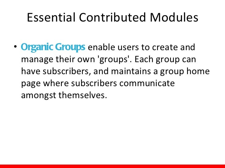 """Essential Contributed Modules• Mollom is an """"intelligent"""" content moderation  web service. By monitoring content activity ..."""