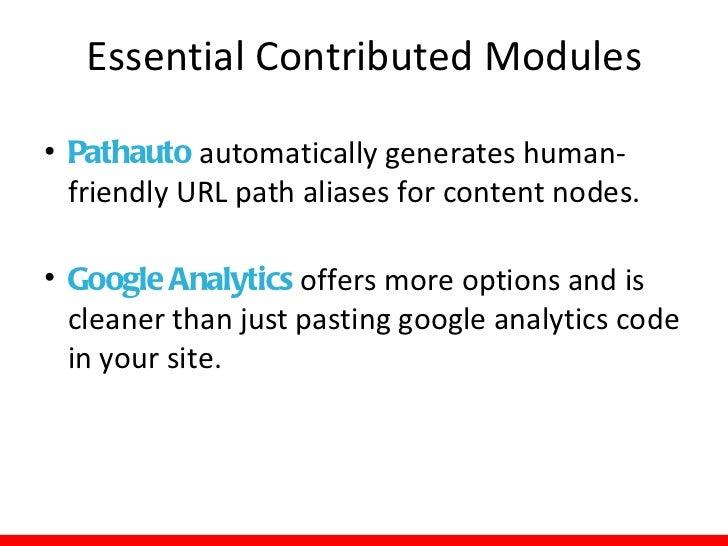 Essential Contributed Modules• Millennium Module works with III's  Millennium catalog to import data to create a  mini nex...