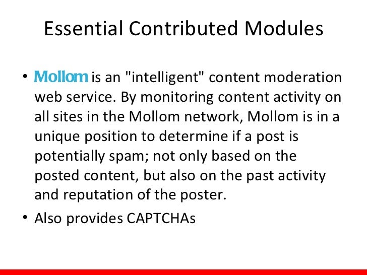 Modules: Tips• When looking for modules:  – Search by:     •   Drupal version     •   Project status     •   Keyword     •...