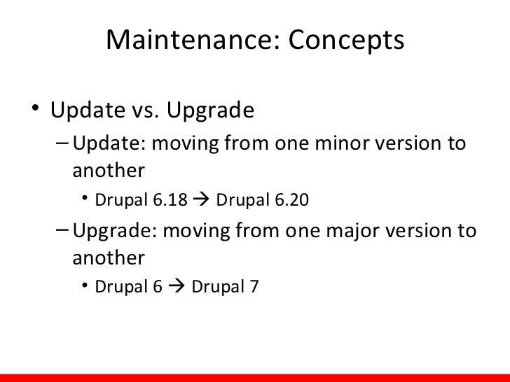 Maintenance: Examples