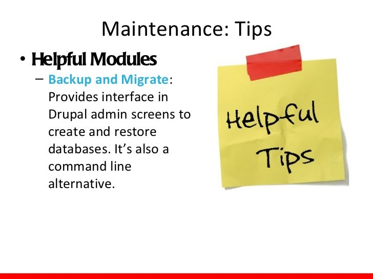 Maintenance: Examples   THIS IS BAD!