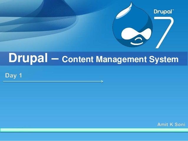 Drupal – Content Management System