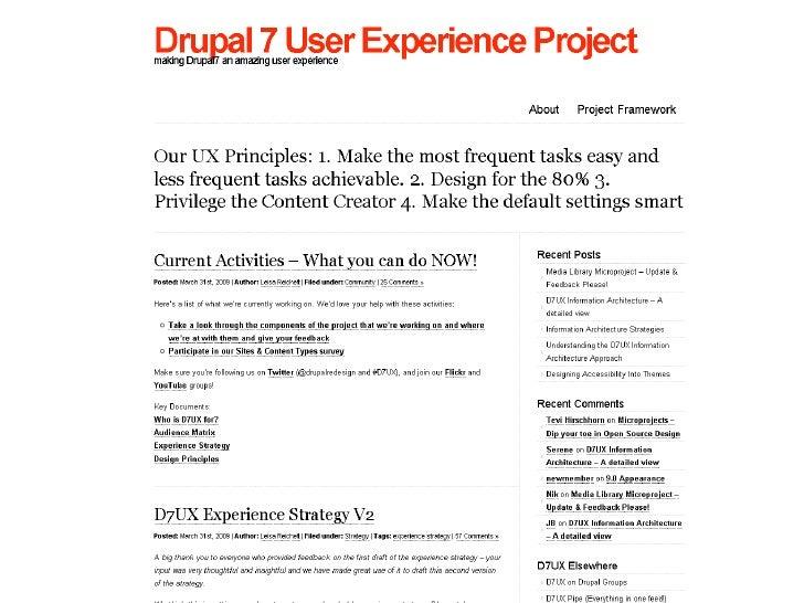 Drupal 7 UX Project Slide 2