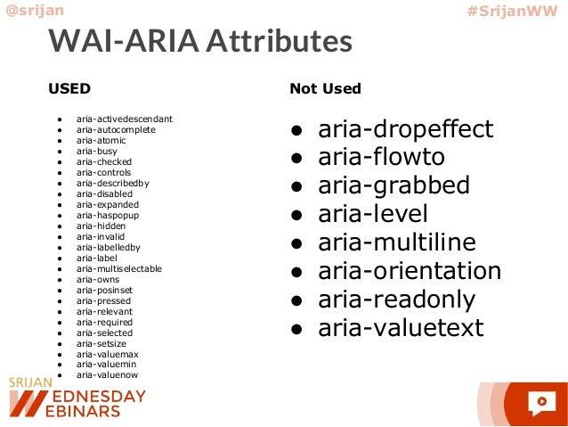 Srijan Wednesday Webinar] Drupal 8 Accessibility: What We