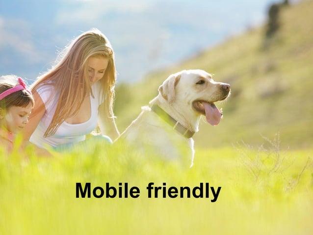 Mobile friendly