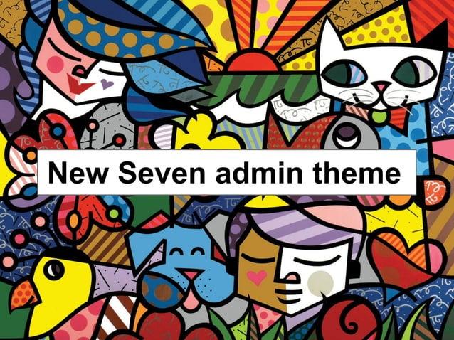 New Seven admin theme