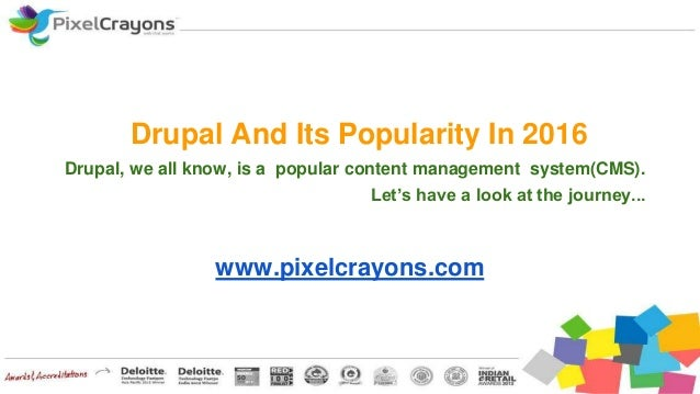 Drupal And Its Popularity In 2016 Drupal, we all know, is a popular content management system(CMS). Let's have a look at t...